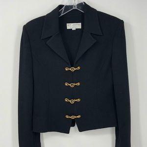 St John Marie Gray Women's 8 Santana Knit Blazer